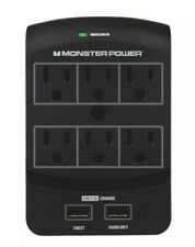 121865-00 Monster Power 6 Wall Outlet / 2 USB Charging Station