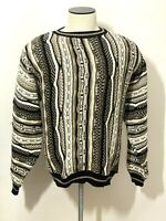 Vtg Protege Collection Acrylic Coogi Style Textured 90's Cosby Sweatshirt Sz XL