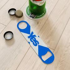 More details for bottle opener blade printed curved shaped stainless steel 25+designs barware bar