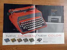 1960 Remington Quiet-Riter Eleven Typewritter Ad  New Design & Color Flamingo