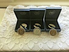 THREE Gold Plated Kennedy Half Dollar in Mint Case 2004-P