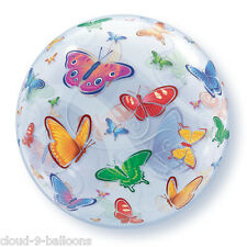 Qualatex Bubble Butterfly Stretchy Plastic Balloon 56cm (22in)