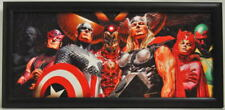 AVENGERS BIG NINE PROFESSIONALLY FRAMED PRINT Alex Ross Art Marvel