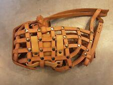 Bud Stump Hand Crafted Leather Basket Dog Muzzle - Lg / Xl