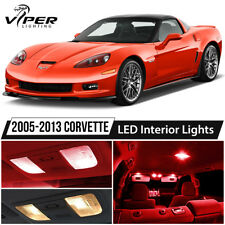 2005-2013 Chevrolet Corvette C6 Red LED Interior Lights Package Kit