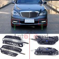 For Mercedes-Benz S-Class 2010-2012 2x White DRL LED Daytime Running Lights Fog