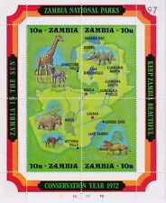 More details for zambia  1972 nature conservation year - national parks u/m mini sheet