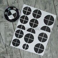 BMW Emblem Logo Aufkleber Ecken 1er 3er 4er M3 X1 X3 X5 schwarz carbon glänzend