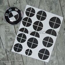 BMW Emblema Adesivo logo angoli 1er 3er 4er m3 x1 x3 x5 Nero Lucido Carbonio