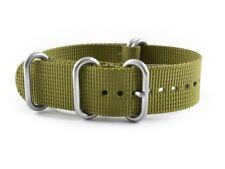 Wrist Watch Band - Nylon - NATO -Olive Green Extra stark18mm 20mm 22mm 24mm26mm