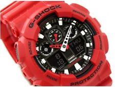 Casio G Shock *GA100B-4A Anadigi Matte Coke Red Gshock Ivanandsophia COD PayPal