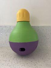 "Starmark Dog Treat Dispensing Bob-A-Lot Large Yellow/Green/Purple 6"" x 6"" x 9.5"""