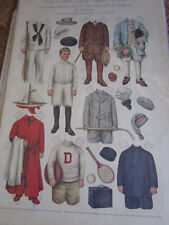 1909 Sheila Young Lettie Lane Paper Doll Brother w/Playthings Clothes Uncut