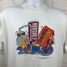 Vintage 90s Hersheys Candy Bar Band T Shirt Large Kisses Reeses Advertising