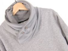 apr051 G-Star Raw Sudadera Suéter sobeck Cuello gris original premium talla L