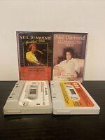 Bundle Of 2 Neil Diamond Cassette Tapes Greatest Hits Vol 1 & 2