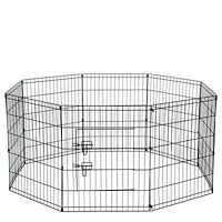 """30"""" Tall Wire Fence Pet Dog Folding Exercise Yard 8 Panel Metal Play-Pen"""