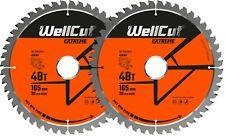 2 x WellCut Plunge TCT Saw Blade 165mm x 48T x 20mm DWS520 DCS520 SP6000 GKT55