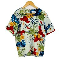 Secret NZ Womens Vintage Blouse Plus Size 16 Floral Multicoloured Short Sleeve