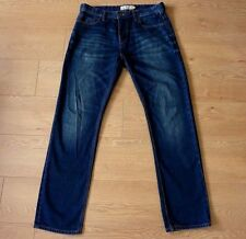 Next Straight Fit Button Fly Blue Jeans Crafted for the Individual Size 34R