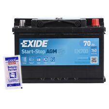 EXIDE EK700 70AH 760A START-STOP AGM STARTERBATTERIE INKL. POL FETT 32685983