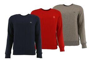 Hugo Boss Herren Langarm Sweatshirt Pullover mit Emblem auf der Brust S - XXL