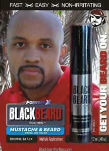Mens Cover Hair Colour Mascara Beard Moustache Eyebrows Sideburns BROWN/BLACK