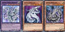Cyber Twin Dragon 1st Ultra Sdcr  FUSION Set NM + 2 Cyber Dragons Black & White