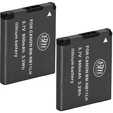 BM 2X NB-11LH Batteries for Canon A2300, A2400 IS, A2600 IS, A3400 IS, A4000 IS