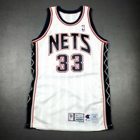 100% Authentic Stephon Marbury Champion 99 00 Nets Game Worn Issued Jersey 44+4""