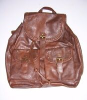 "CLAIRE'S BROWN FAUX LEATHER WOMEN'S GIRL'S 14"" BACKPACK NWT!"