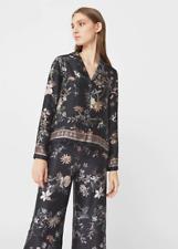 Mango Printed Flowy Shirt Black Size UK 6 rrp £35.99 DH087 LL 20