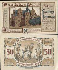 Saalfeld Notgeld: 1155.2a) Notgeld der Stadt Saalfeld bankfrisch 1921 50 Pfennig