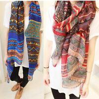 Fashion Women Long Soft Cotton Voile Print Scarf  Wrap Shawl Large Scarves Stole