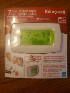Honeywell Home RTH7600D 7-Day Programmable Touchscreen Thermostat Easy