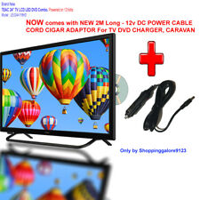 "TEAC 24"" inch 12V TV DVD COMBO FHD LED Caravan Motorhome Boat 61cm TV +12V Cable"