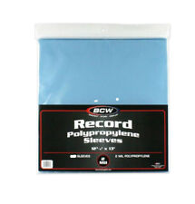 "50 BCW Clear 33rpm Record Polypropylene Sleeves (12-3/4"" X 13"")"