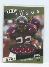 LEE SUGGS 2003 SAGE HIT Authentic Jersey #HJ11 Virginia Tech