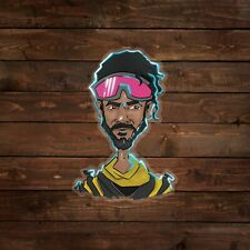 Mirage (Apex Legends) Caricature on Clear Decal/Sticker