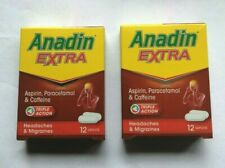 2 x Anadin Extra Triple Action 12 Caplets Pain Relief Headaches Migraines Cold