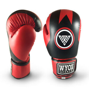 Leather Boxing Gloves Muay Thai Training Punching Bag Sparring MMA & kickboxing