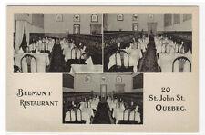 Beaumont Restaurant Interior 20 St John St Quebec Canada postcard