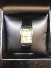 Mens Vintage 14K Gold Wittnauer Windup Watch w/ Leather Band