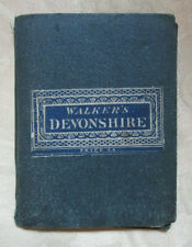 Walker's Map of Devonshire, 1860s, folding map mounted on cloth with boards