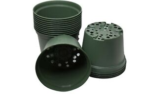 "6"" Round Green Nursery Pots by HC - Set of 50 - plants azalea pot plastic flower"
