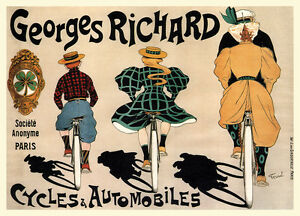 Georges Richard Cycles & Automobiles Vintage Bicycle Sport Poster