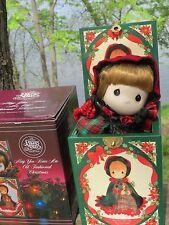 1991 Enesco PRECIOUS MOMENTS Musical JACK-IN-THE-BOX Old Fashioned Christmas COA