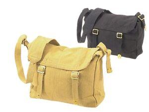 WH1 Bike Messenger Shoulder Strap Bag Retro Web Haversack Large -