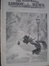 Blizzard en Nueva York 26th St en marzo de 1888 impresión Antiguo