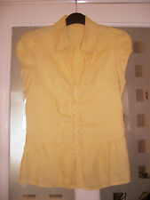 Atmosphere Short Sleeve Casual, Classic Collar Yellow/Lemon Blouse